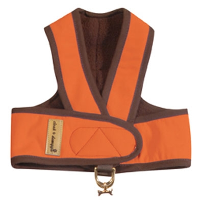 Cloak & Dawggie Step-N-Go Fleece Lined Harness - Orange
