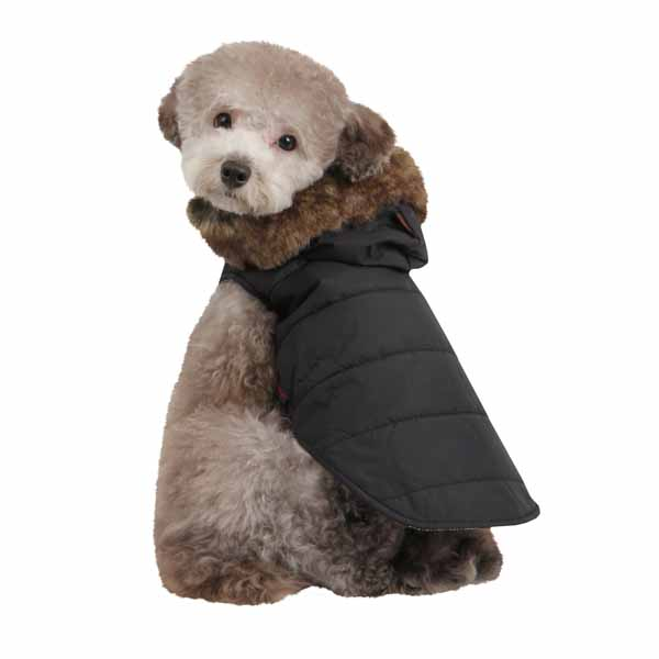 Cody Hood Dog Vest by Puppia - Black