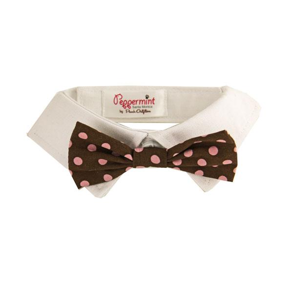 Colin Polka Dot Dog Shirt Collar Bow Tie Baxterboo