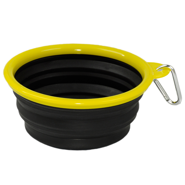 Collapsible Silicone Dog Bowl By Body Glove Black