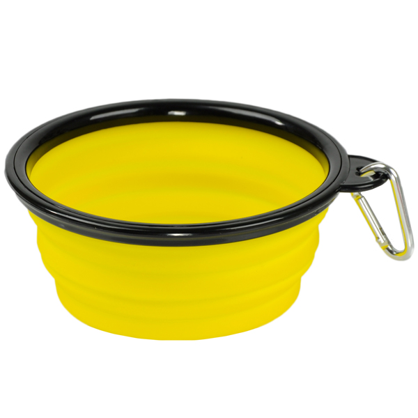 Collapsible Silicone Dog Bowl By Body Glove Yellow At