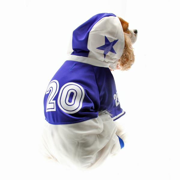 Collegiate Football Player Dog Costume - Blue