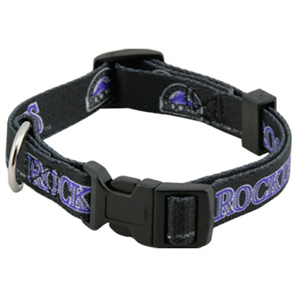 Colorado Rockies Baseball Printed Dog Collar