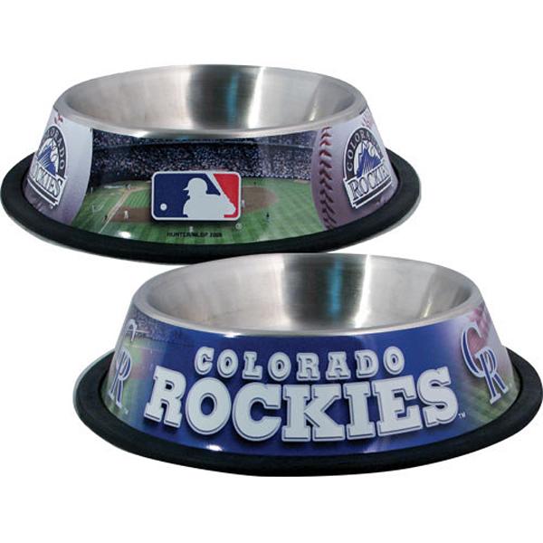 Colorado Rockies Dog Bowl