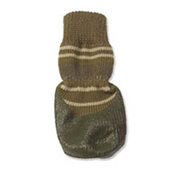 Comet's Non-Skid Bootie Socks - Brown/Green