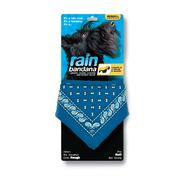 Convertible Rain Dog Bandana - Blue