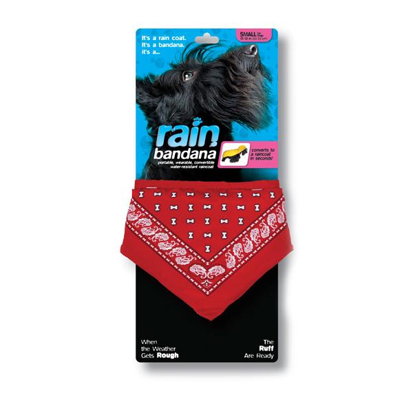 Convertible Rain Dog Bandana - Red