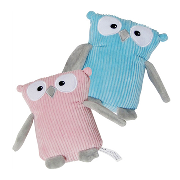 Corduroy Owl Plushy Dog Toy