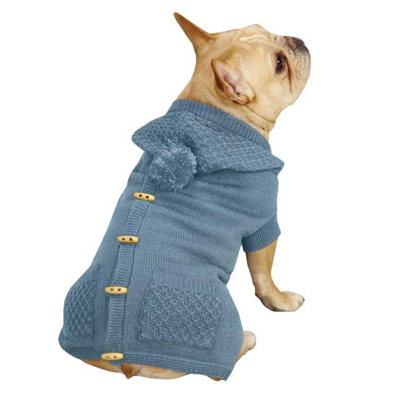 Dogs in Sweater Vests Cottage Hooded Dog Sweater