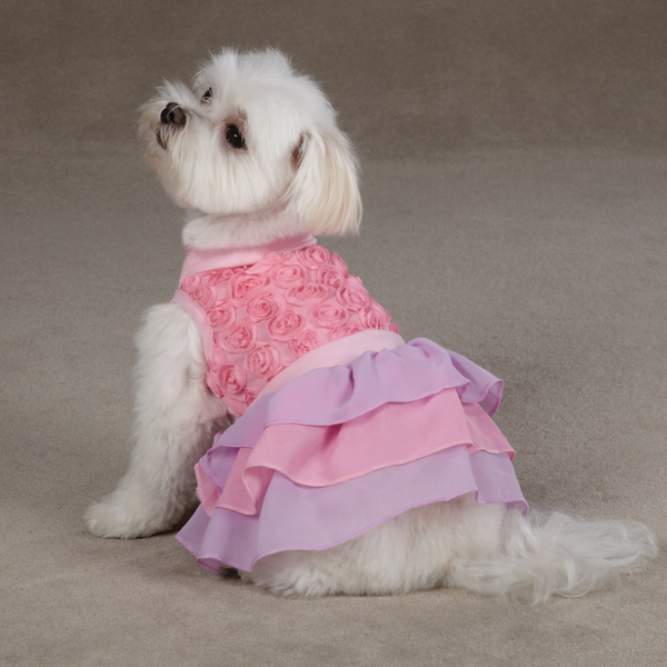Cotton Candy Dog Dress - Pink