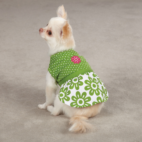 Country Club Dog Dress by Zack & Zoey - Green