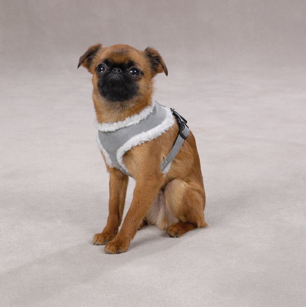 Cozy Sherpa Dog Harness - Gray