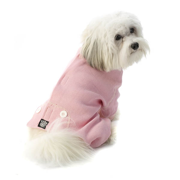 Cozy Thermal Dog Pajamas - Pink