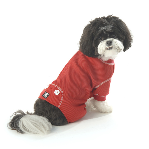 Cozy Thermal Dog Pajamas - Red