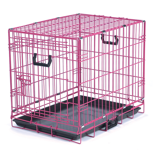 Crate Appeal Collapsible Wire Dog Crate - Pink Punch