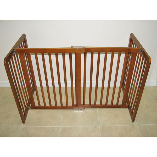 Crown All Wood 30inch Height Pet Gate - Chestnut Brown