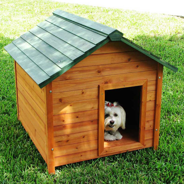 Crown Pet Cedar Dog House with Classic Roof