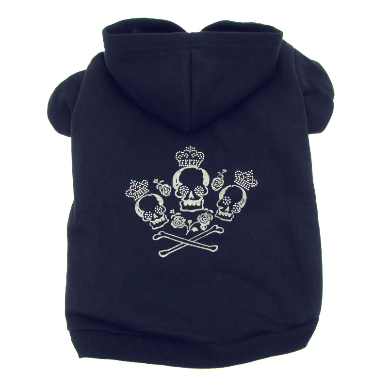 Crowned Crossbone Hoodies - Black