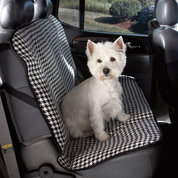Cruising Companion Houndstooth Car Seat Cover - Black