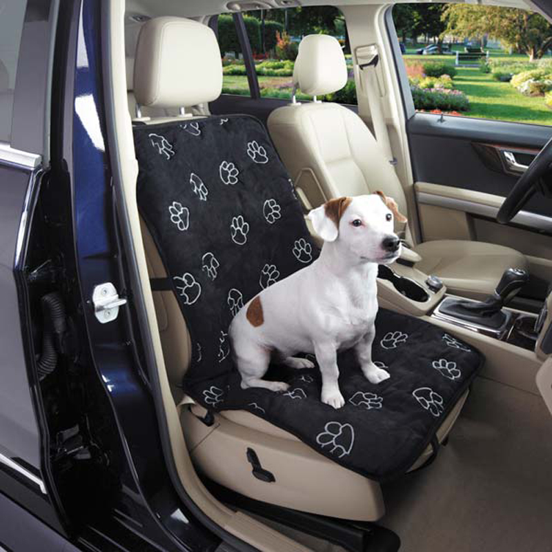 pawprint single car seat cover black baxterboo. Black Bedroom Furniture Sets. Home Design Ideas