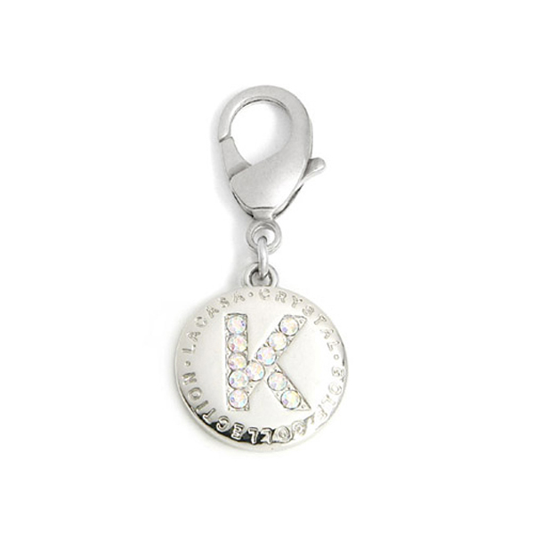 Crystal A to Z Initial Pendant by Pinkaholic
