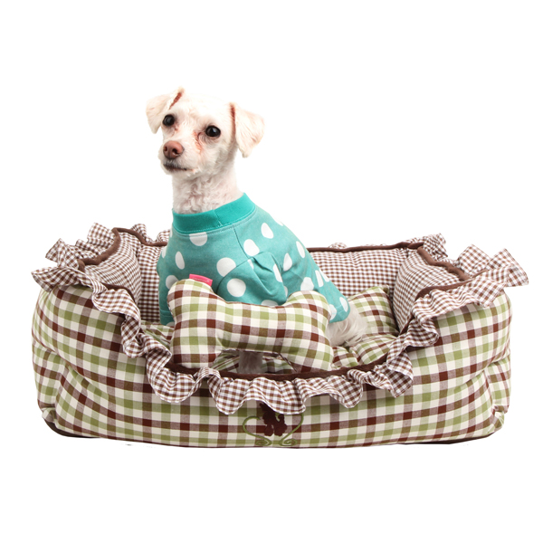 Cuddlebug Dog Bed by Pinkaholic - Brown