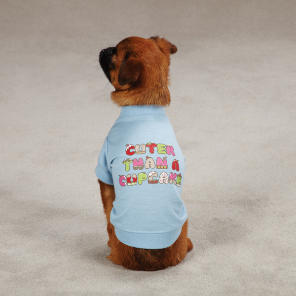 Cuter Than a Cupcake Dog T-Shirt - Blue