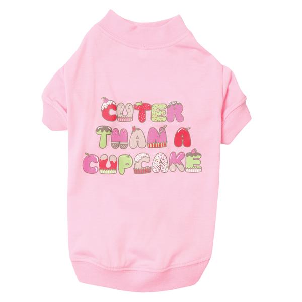 Cuter Than a Cupcake Dog T-Shirt - Pink