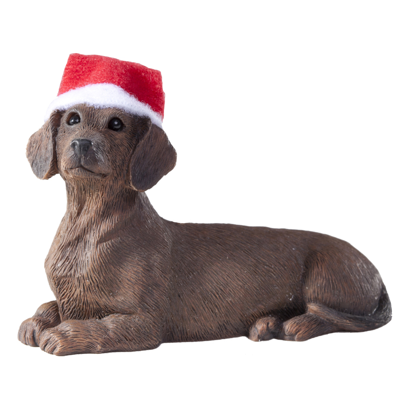 Dachshund Christmas Ornament - Red