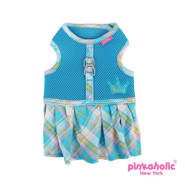 Dainty Flirt Dog Harness Dress by Pinkaholic - Blue