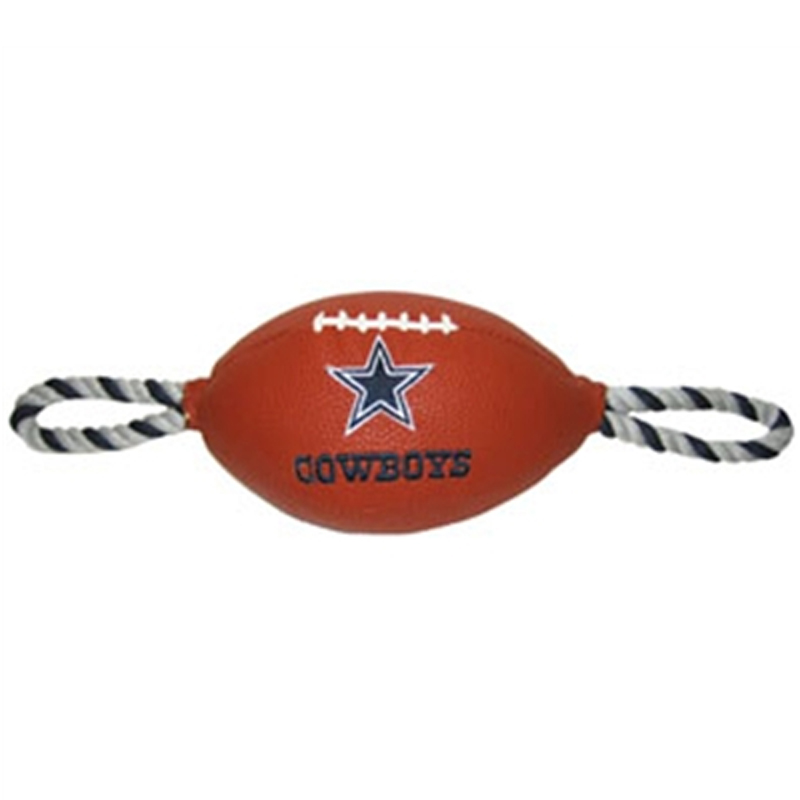 Dallas Cowboys Pebble Grain Football Dog Toy