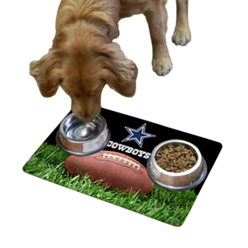 Dallas Cowboys Pet Bowl Mat