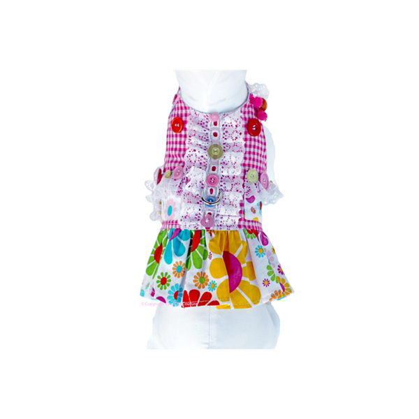 Darlin' Daisy Dog Harness Dress - Pink