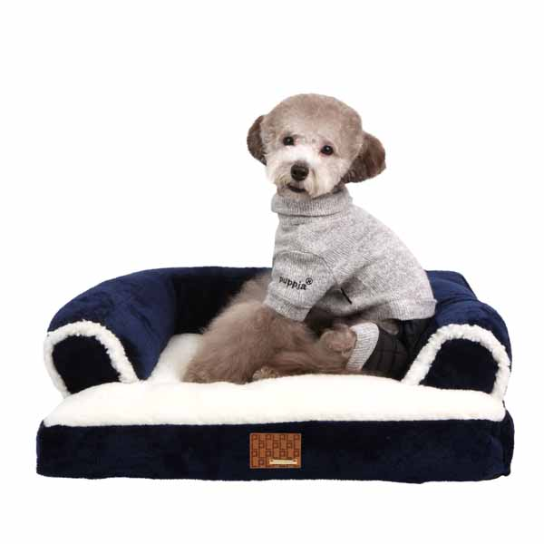 Davenport Dog Bed by Puppia - Navy