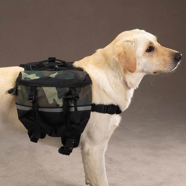 Day Trippers Dog Backpack - Green Camo