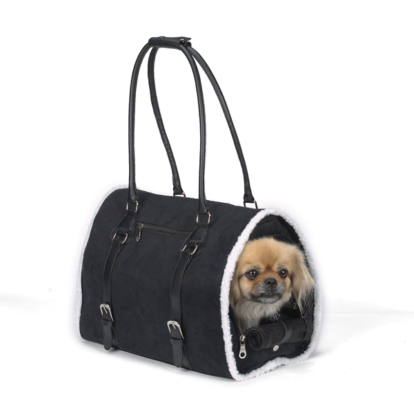 Deluxe Sherpa Pet Carrier by Zack & Zoey - Black
