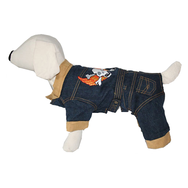 Denim & Leather Dog Outfit