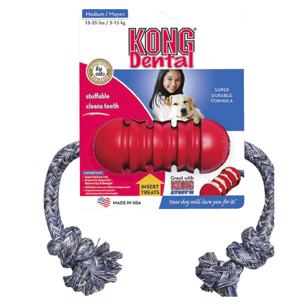 Dental Kong Dog Toy with Rope