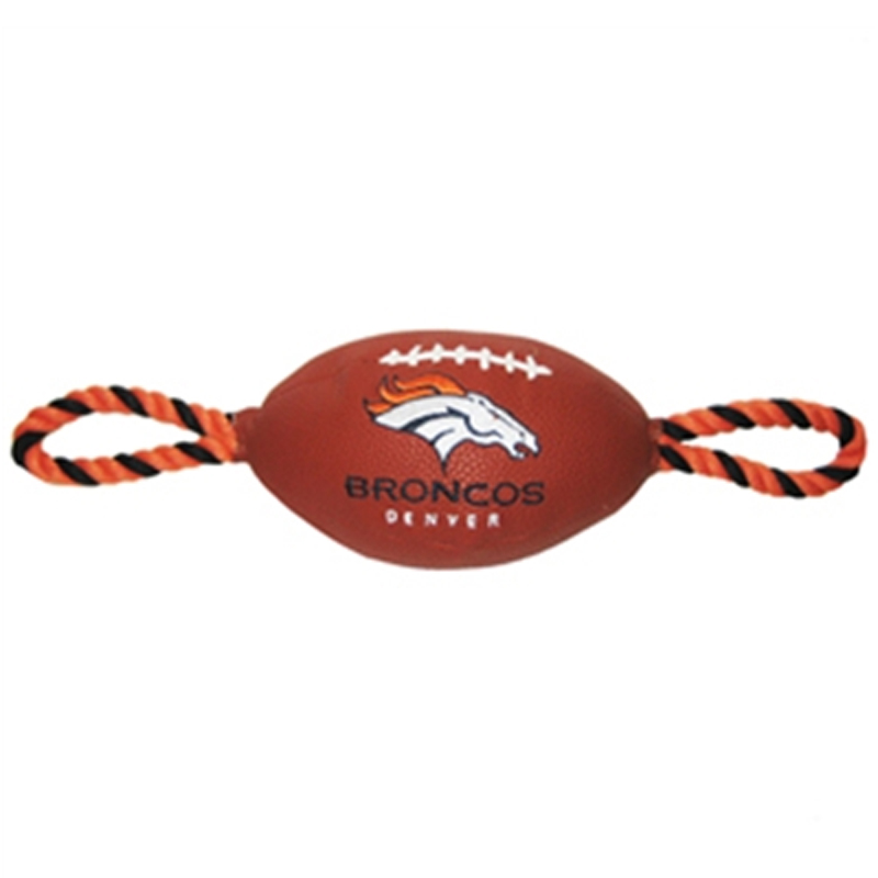 Denver Broncos Pebble Grain Football Dog Toy