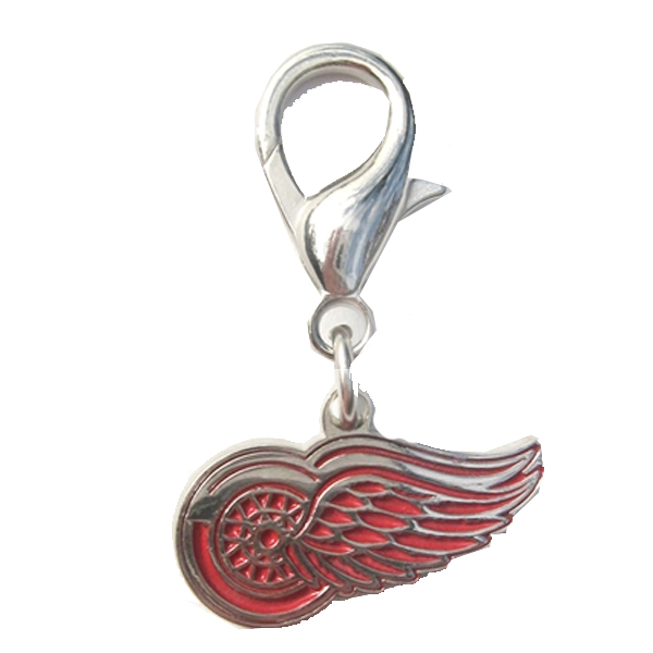 Detroit Red Wings Logo Dog Collar Charm