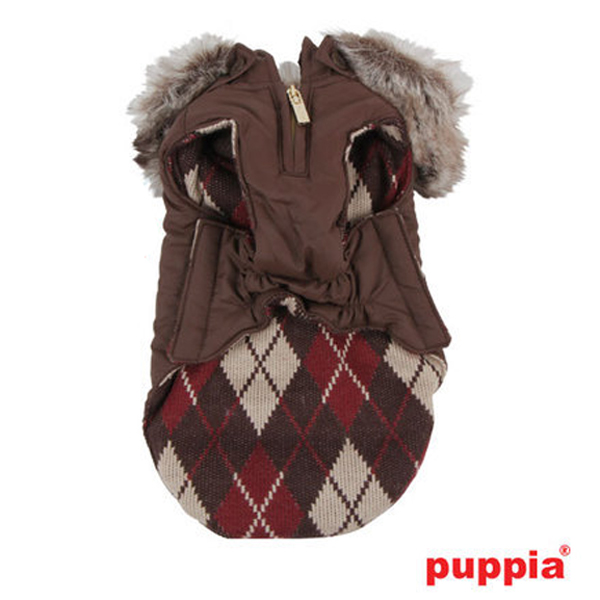 Diehard Hooded Dog Vest by Puppia - Brown
