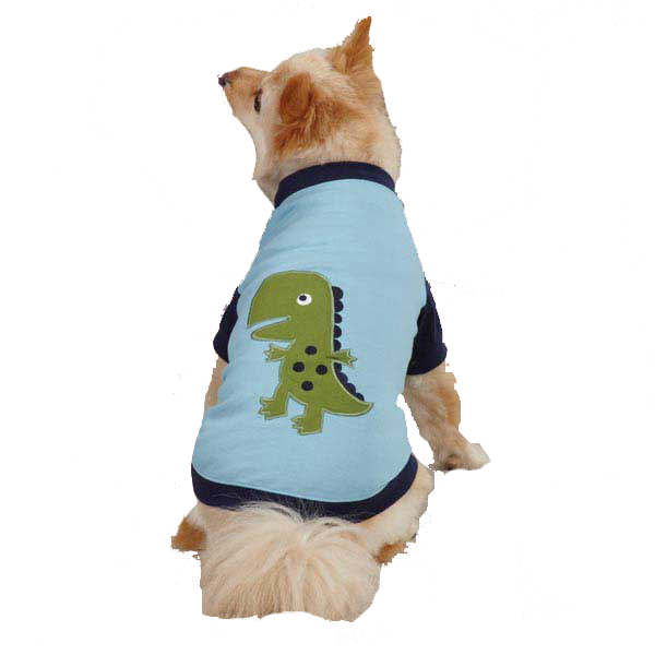Dino Dog Raglan T-Shirt - Blue