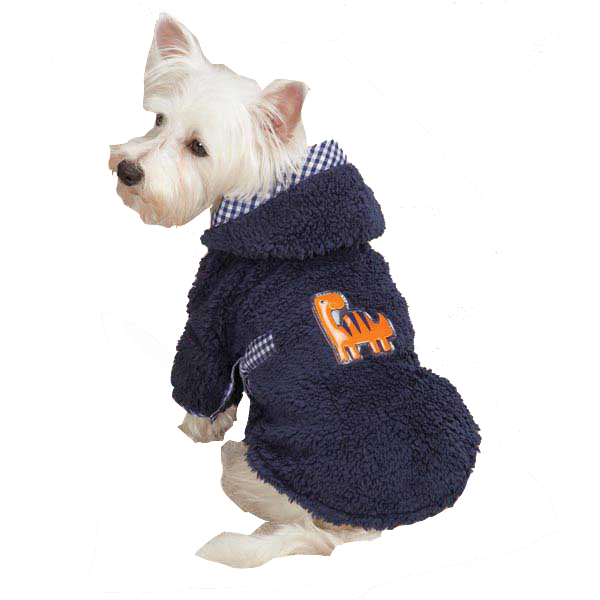 Dino Dog Robe - Navy