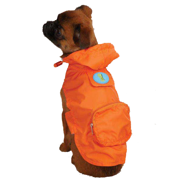 Dino Dog Stowaway Jacket - Orange