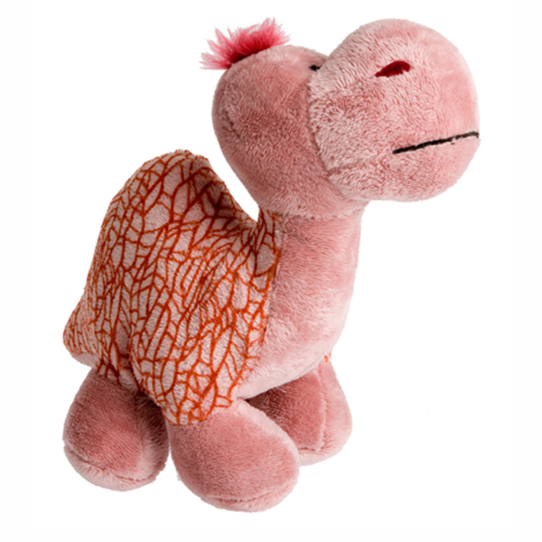 Dino-Rageous Plush Dog Toy - Pink Tino