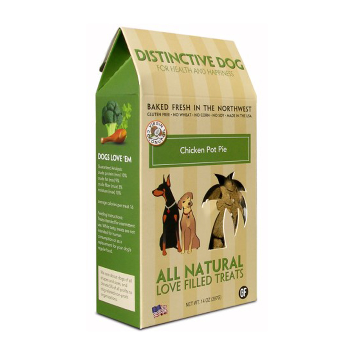 Distinctive Dog All Natural Dog Treats - Chicken Pot Pie