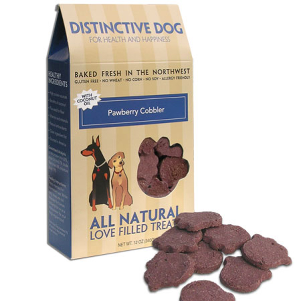 Distinctive Dog All Natural Dog Treats - Pawberry Cobbler