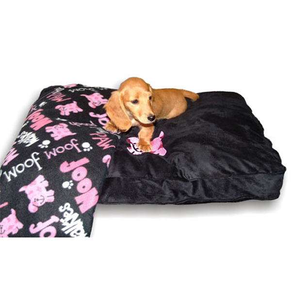 Dog Bed & Blankie Set - Black