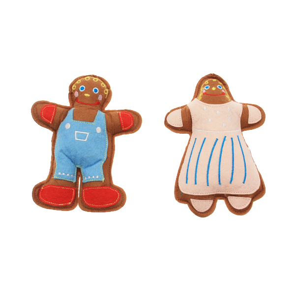 Dog Gingerbread Cookies People Set
