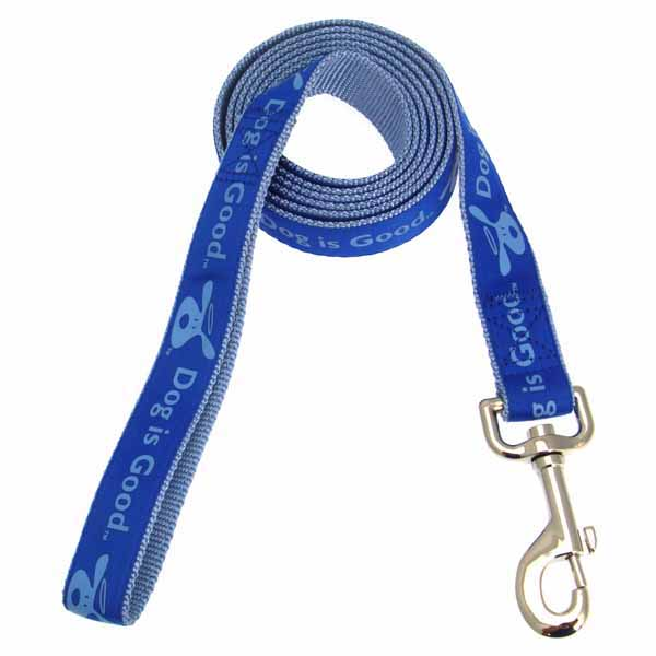 Dog is Good Bolo Dog Leash - Sky Diver Blue
